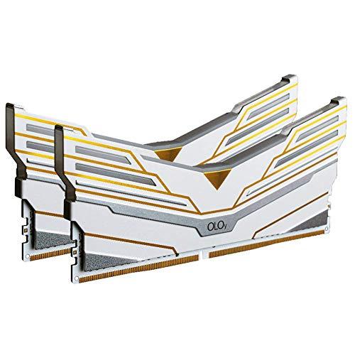 OLOy DDR4 RAM 64GB (2x32GB) Warhawk Aura Sync RGB 3600 MHz CL18 1.35V 288-Pin Desktop Gaming UDIMM (MD4U3236181DCWDX) Nebraska