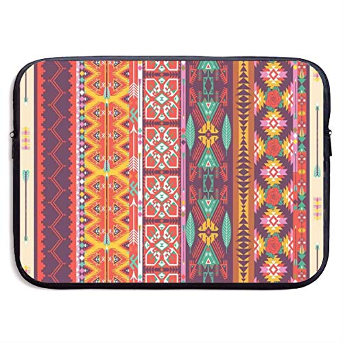 Judascepeda Laptop Case Colorful Pattern with Birds Flowers and Arrows Mayan Latino Cultural Heritage Theme Strap Laptop Bag 15 Inch