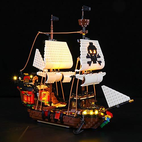 Sungvool Juego de luces para Lego Creator 3 en 1, modelo pirata de barco – Juego de luces LED compatible con Lego 31109 (no incluido en el envío)