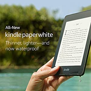 Kindle Paperwhite (10th gen) -with Built-in Light, Waterproof, 32 GB, WiFi + Free 4G LTE