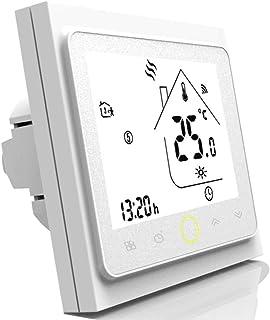 Termostato programable Wifi para calefacción individual de calderas de gas/agua Funciona con Alexa/Google Home 5A Contacto seco