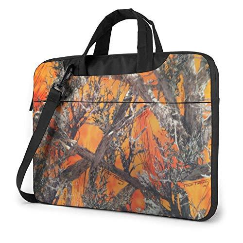 15.6 inch Laptop Shoulder Briefcase Messenger Realtree Camo Orange Tablet Bussiness Carrying Handbag Case Sleeve