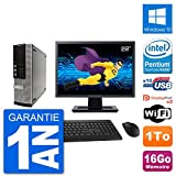 Dell PC 7010 SFF Ecran 22' Intel G2020 RAM 16Go Disque 1To Windows 10 WiFi (Reconditionné)