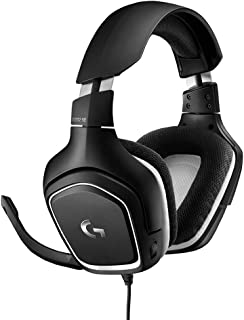 Logitech G332 Wired Gaming Headset Special Edition, Stereo Audio, 50 mm Audio Drivers, 3.5 mm Audio Jack, Flip-to-Mute Mic, Rotating Ear Cups, Lightweight, PC/Mac/Xbox One/PS4/Nintendo Switch - White