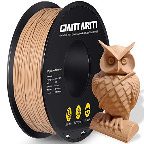 Filamento GIANTARM PLA 1,75 mm per stampante 3D 1 kg, legno