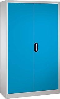 CP Armoire métallique de bureau à portes battantes - h x l 1950 x 1200 mm - profondeur 500 mm, gris / bleu - armoire armoi...