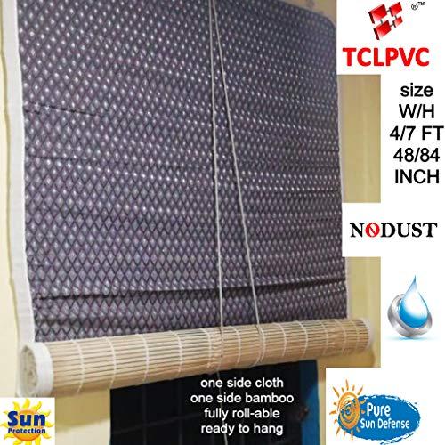 TCLPVC Bamboo Blind Chick Window CloserCurtain(4 Sizes) Natural Range (Beige, W4/H7)