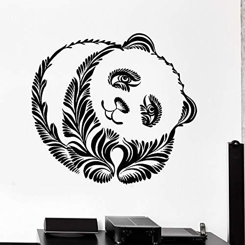 Panda animal calcomanías de pared decoración de animales estilo tribal murales lindos puertas y ventanas calcomanías de vinilo dormitorio infantil jardín de infantes decoración de interiores