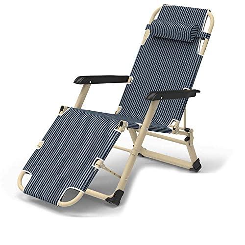 WGFGXQ Sun Chair Lounger,Outdoor Folding Zero Gravity Recliner, Adjustable Beach Chairs Sun Lounger Recliner,Maximum Load 200Kg,for Beach Patio Garden Camping