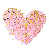 STOBOK 20000 unids 1 cm Romántico Confeti Redondo para Suministros de decoración de Bodas (Rosa + Amarillo Claro + Blanco + Dorado)