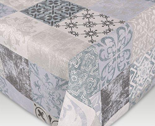 BEAUTEX Tischdecke Acryl Teflon beschichtet abwischbar, Bedruckt Castillo, RUND OVAL ECKIG, Größe wählbar (eckig 110 x 160 cm)
