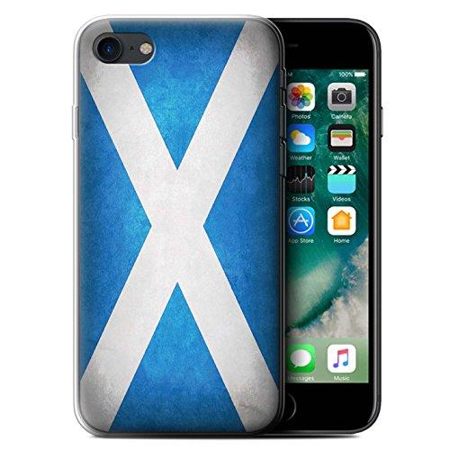 Stuff4 Gel TPU Hülle/Case für Apple iPhone 7 / Schottland/Schottische Muster/Flagge Kollektion