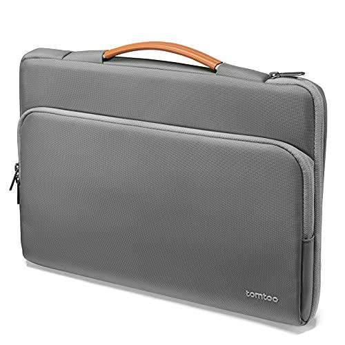 "tomtoc Recycelt Laptop Tasche für 13"" MacBook Air M1, 13"" MacBook Pro M1, 12,4"" Surface Laptop Go, 12,3"" Surface Pro X/7, Dell XPS 13, 12,9"" iPad Pro 2018-2021, Notebook Laptophülle Aktentasche"