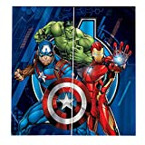 Fgolphd Fgolphd Avengers Curtains Blackout Curtain Eyelets for Bedroom, Captain America Iron Man Blackout Curtain Set of 2 for Children's Room (100 x 140 (W x H), 3)