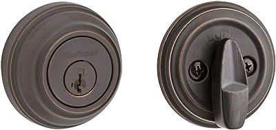 Kwikset 980 Single Cylinder Deadbolt featuring SmartKey in Venetian Bronze