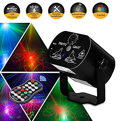 Party Light LED Disco Lights Innoo Tech Laser Lights Stage Lighting Projector Sound Activated Flash Strobe Light Remote Control Parties Home Show Bar Club Birthday KTV DJ Pub Karaoke Christmas Holiday by Innoo Tech