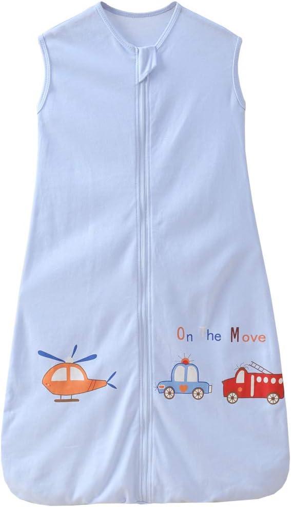 Saco de dormir de verano para bebé y niño, 0,5 tog, 3-6 años, azul avión