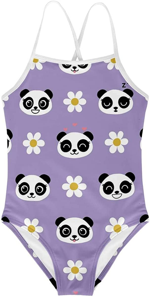 KiuLoam Cute Baby Panda Girls One-Piece Swimsuit Swim Bathing Suit for Girls