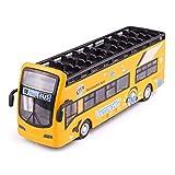 1:32 Modelo De Auto De Aleación Modelo De Excursión Acústica Luz De Autobús Doble Mazo Modelo De Autobús Al Aire Libre Puertas Atrás Puertas Abrir Coche Niños Juguetes Coche Modelos a Escala