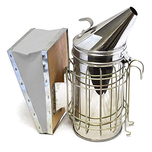 ZXJOY Bee Hive - Herramienta de apicultura de acero inoxidable para ahumar, con equipo de apicultura (ahumador de abejas)