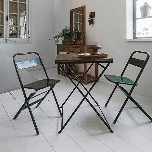 STUFF Loft Vintage Sedia pieghevole in ferro – Stile industriale – Dimensioni: 40 x 40 x 80 cm (L x P x A)