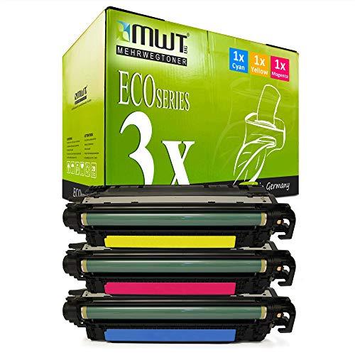 3X MWT kompatibel Toner für HP Color Laserjet cm 3530 wie CE251A-53A CE251A-CE253A Color