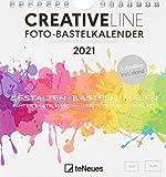 Foto-Bastelkalender weiß 2021 - Kreativ-Kalender - DIY-Kalender - Kalender-zum-basteln - 16x17 -...