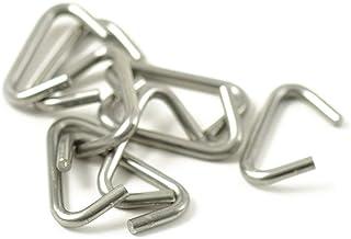 10x Krampen 6mm für Seil Durchmesser 5-6mm Edelstahl, Würgeklemme, Klemme, Zangen-öse, Gummiseil, Gummileine, Festmacher, Festmacherleine