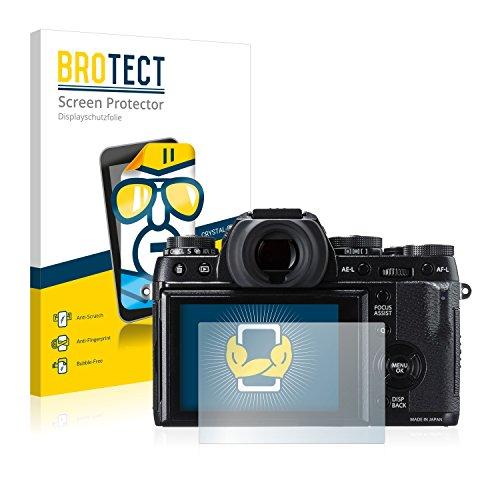 BROTECT Schutzfolie kompatibel mit Fujifilm X-T1 (2 Stück) klare Bildschirmschutz-Folie