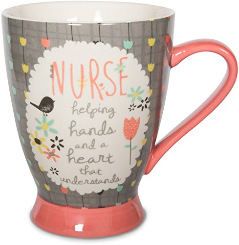 Pavilion Gift Company Nurse Ceramic Mug, 18 oz, Multicolored
