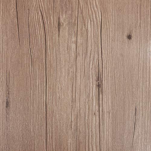 Decomeister Selbstklebende Bodenfliesen Kunststoff Fliesen Vinyl-Fliesen Bodenbelag Probemuster 15,25 x 30,5 cm Dunkle Eiche Holzoptik Dark Oak