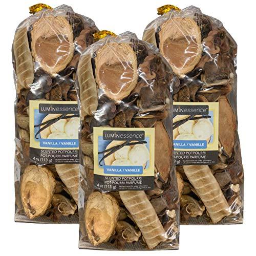 Potpourri Bags Vanilla - 3 Pack - Vanilla Scented Potpourri, 4 oz. Bags