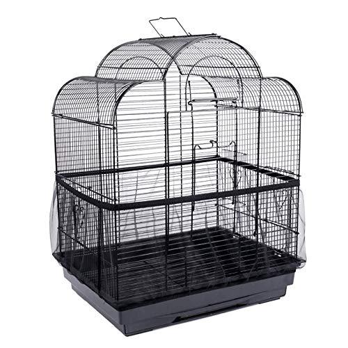NXL 2 Piezas Cubierta De Malla para Jaula De Pájaros Funda para Jaula Pájaro Ventilación Flexible Cubierta para Jaula De Pájaros para Jaulas De Loros, Jaulas para Agapornis, Periquitos