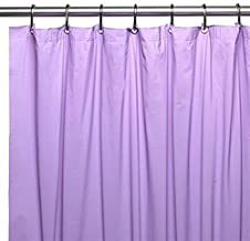 Italian Collection Mildew Free Waterproof Vinyl Shower Curtain Liner - Lilac