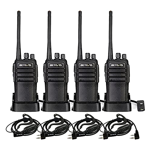 Retevis RT21 Updated 3000mAh Two Way Radios Long Range Rechargeable, Portable Walkie Talkies with Earpiece, 16CH Handheld 2 Way Radios for Cruise Camping Events Adults(4 Pack)
