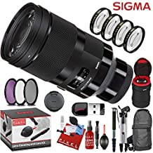 Sigma 40mm f/1.4 DG HSM Art Lens for Sony E with 7 Piece Creative Filter Kit and a Heavy Duty Extra Padded Lens Case
