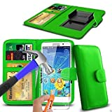 N4U Online® Green Clip On PU Leather Wallet Case Cover &