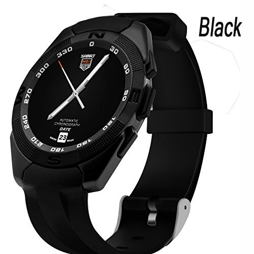 ShengyaoHul Black Reloj Inteligente De Seguimiento De Fitness For Men Pedometer Digital Watch Mostrar Reloj/Bluetooth Reproductor De Música/Batería Incorporada Relojes Digitales Inteligentes