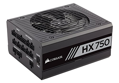CORSAIR HX Series, HX750, 750 Watt, 80+ Platinum Certified, Fully Modular Power Supply