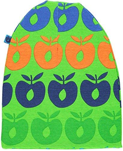 Smafolk Jungen Beanie-Mütze Äpfel grün-blau Größe XS (1-2 Jahre)