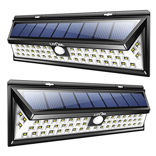 LITOM Solar Lights Outdoor, 54 LED Super Bright 270