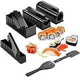 10 pezzi sushi making kit set sushi completi kit per sushi fai da te per principianti kit per fare sushi fai-da-te macchina per sushi rullo per riso utensili da cucina facili da usare