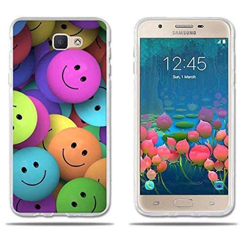 fubaoda Funda Samsung Galaxy J5 Prime /On5 (2016) (Interesante) Diveretido Dibujo de Cara Sonriente,Amortigua los Golpes, Funda Protectora Anti-Golpes para Samsung Galaxy J5 Prime /On5 (2016)