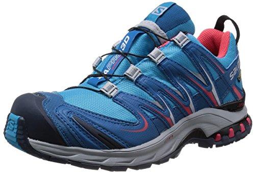 SALOMON XA PRO 3D GTX, Stivali da Escursionismo Donna, Blu Boss Blue Darkness Blue Papaya B, 36 2/3 EU