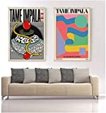 Refosian Tame Impala bei Glastonbury Gig Poster Bunte