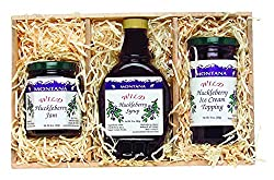 Montana Gift Crate: 10oz Huckleberry Syrup, 8oz Huckleberry Jam, 10oz Huckleberry Topping