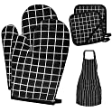 2-Count Oven Mitts + 2-Count Pot Holders + 1-Count Apron