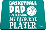 Hippowarehouse Basketball Dad I'm Raising My Favourite Player Alfombrilla de ratón Impresa Accesorio Base de Goma Negra 240 mm x 190 mm x 60 mm