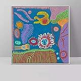 wojinbao Arte Abstracto Yayoi Kusama Obra de Arte Imágenes Pintura sobre Lienzo...