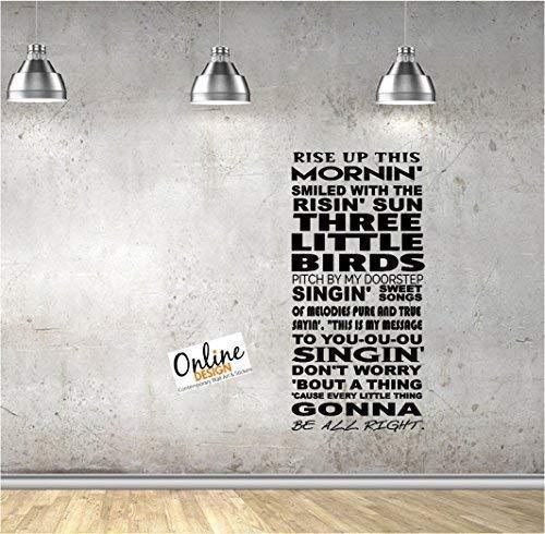 Online Design Augmenter Up This Mornin' Smiled avec The Risin' Soleil Trois Petit Oiseaux Mural Dictons Vinyle Lettrage Décor Maison Autocollants Citations Appliques Bob Marley